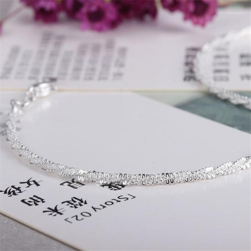 Kofsac 2020 Nuova catena intrecciata in argento sterling 925 intrecciata catena di catena semplice gypsophila catena per le donne gioielli ragazza migliore regalo1