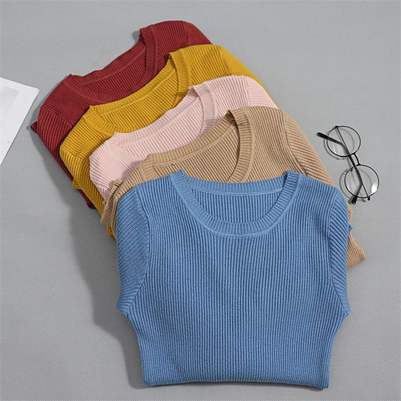 Bygouby Women Sweater Básico Otoño Spring Chic Thin Thin Thinted Ladies Jumper Soft Pullover Top Jersey Mujer Invierno 201221