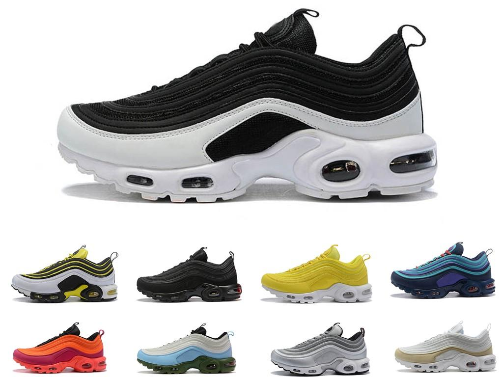 2019 New Max 97 TN Plus Scarpe Outdoor Donna Uomo Nero Giallo Champagne oro Sneakers da ginnastica Chaussure TN Running Sports taglia 36-45