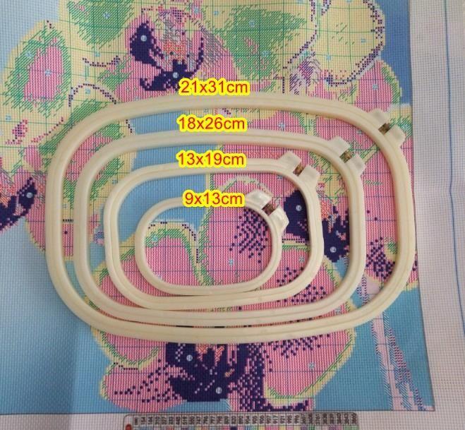18x26cm 13x20cm 10x15cm adjustable plastic hoop square embroidery for cross stitch handcraft DIY handmade needlework craft free