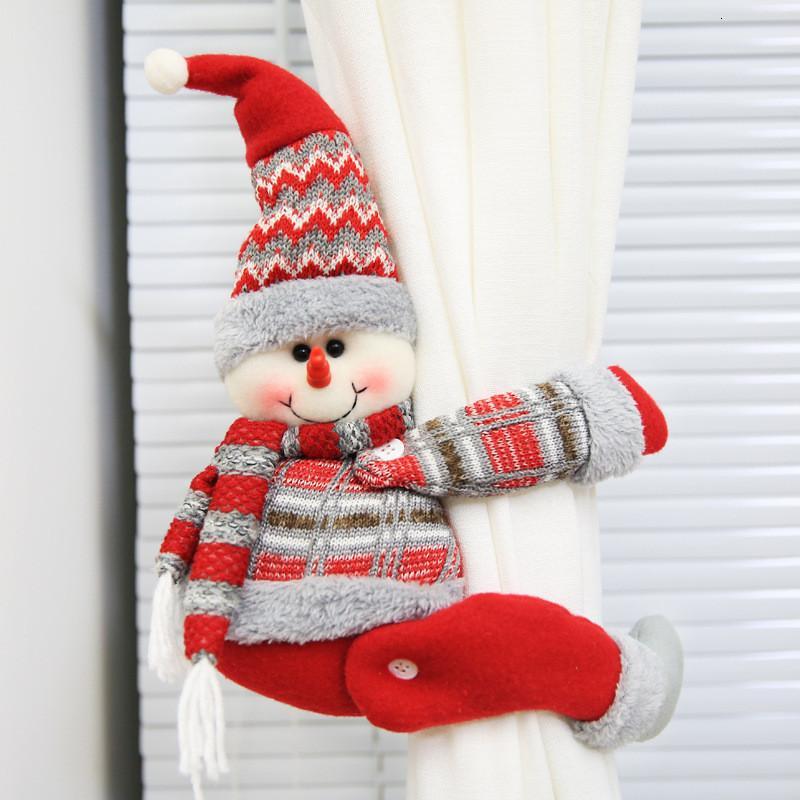 Cortina de Navidad de Santa Claus Elk de Windows Decoración Feliz Navidad de la decoración para los regalos de Navidad en casa Feliz Año Nuevo de DHL S