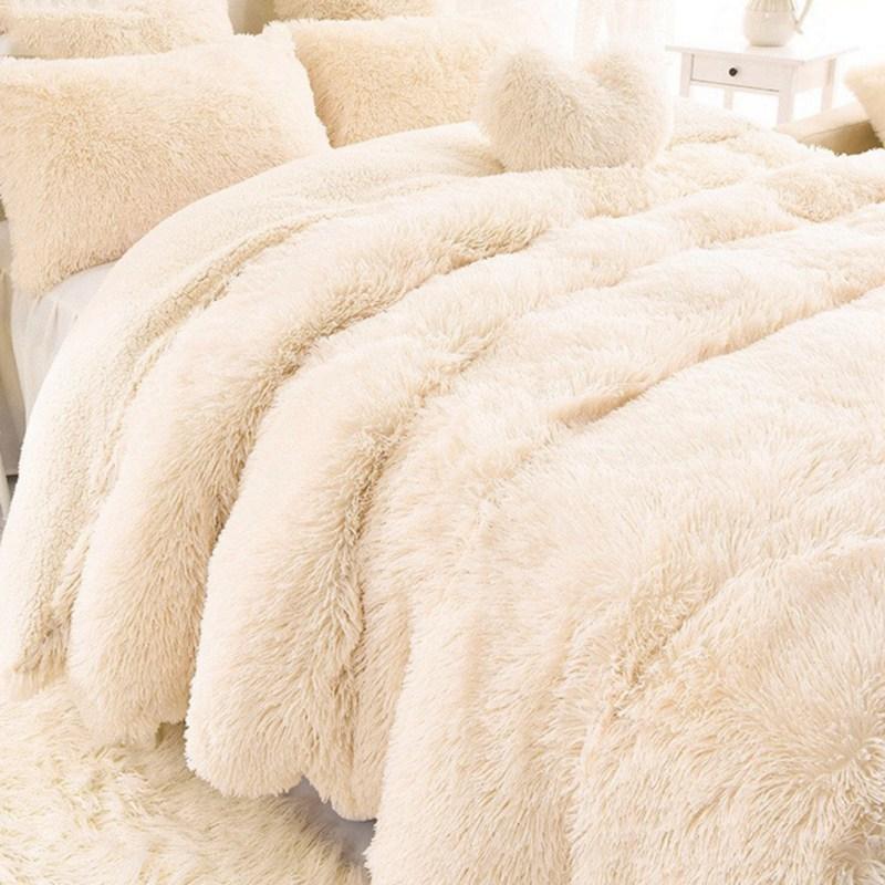 AAG Новое поступление роскошные длинные шаггические бросания одеяла постельное белье литы большой размер теплый мягкий толстый пушистый диван шерпы одеяла наволочка LJ201127