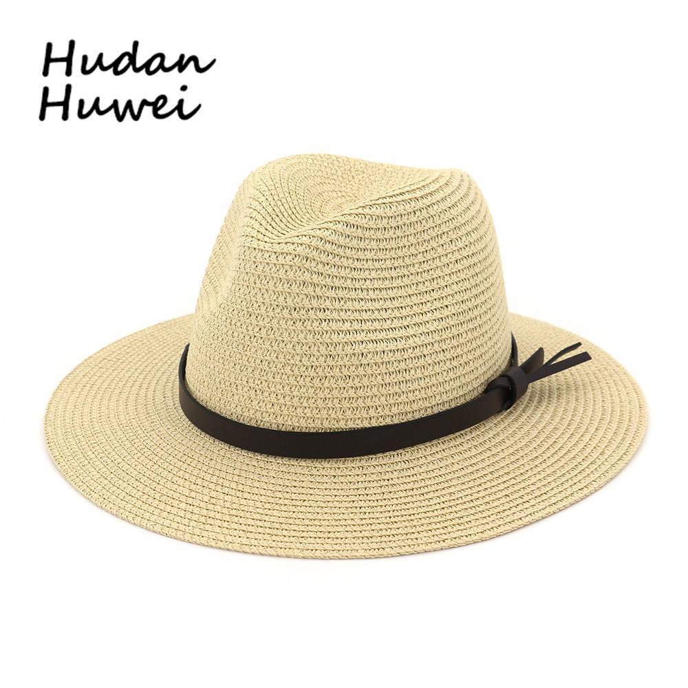 Erkek ve kadın Hasır Şapka Açık Güneş Kremi Büyük Brim Güneşlik Şapka Caz Şapka