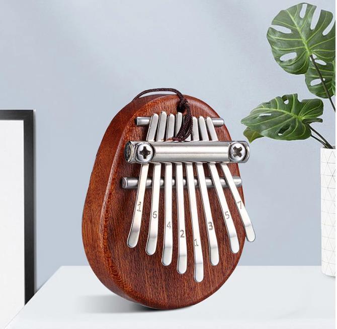 8 Key Mini Kalimba Exquisite Finger Thumb Piano Marimba Musical Good Accessory Pendant Gift