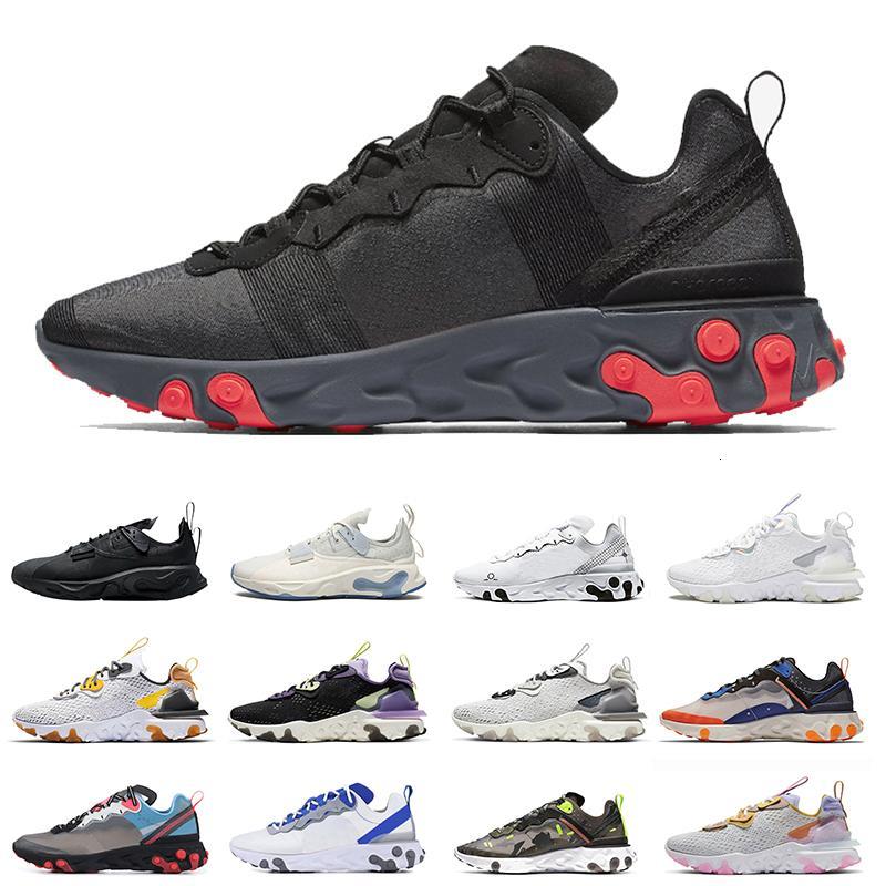 Мода Мужчины Реактивное Vision Chaussures Тип N354 Gore-Tex Element 55 87 Запуск Обувь Тройной черный Антрацит Брейд Женщины Новейшие Треневые Обувь