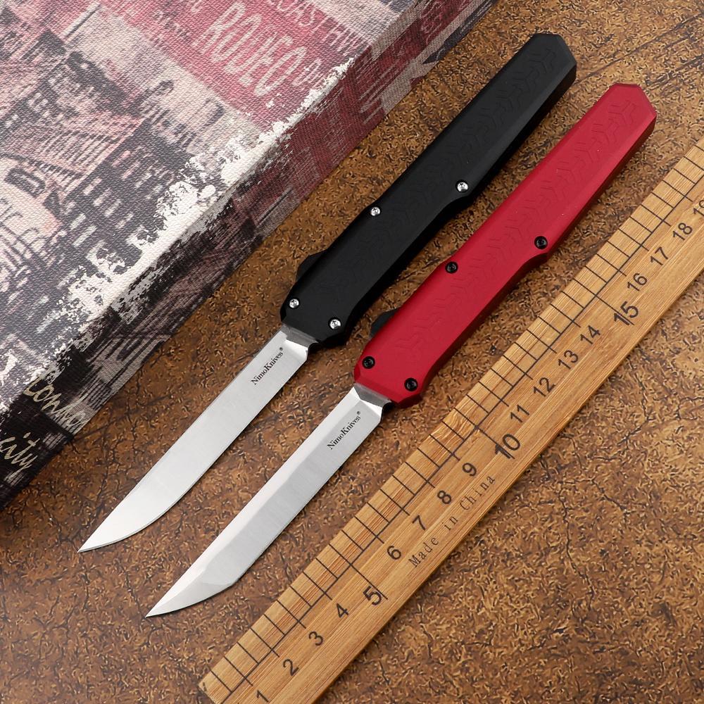 Couteau automatique tactique SLM D2 Blade d'acier Aviation Poignée en aluminium en plein air Camping Camping Chasse Hunting EDC Outil Couteau à fruits