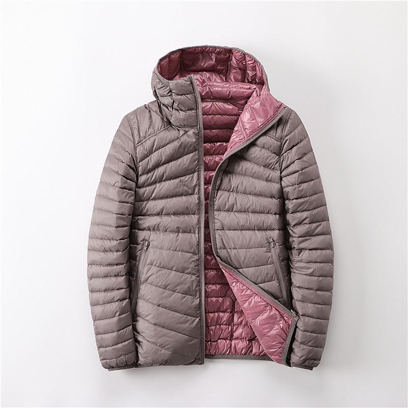 Newbang Marke Entenmäntel Ultra Light Down Jacket Frauen Lieghtweight Doppelseite Umkehrbare Jacken Frauen Windjacke Damen