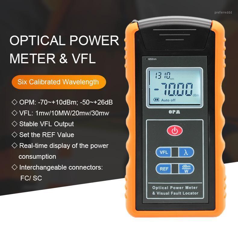 Волоконно-оптическое оборудование 2 в 1 фурнитура TM203N-A-V10 FC SC VFL Meter мощностью 10 МВт 650 нм OPM Оптическая 6 длина волны -70 ~ + 10 дБМ -50 ~ + 26 дБМ1