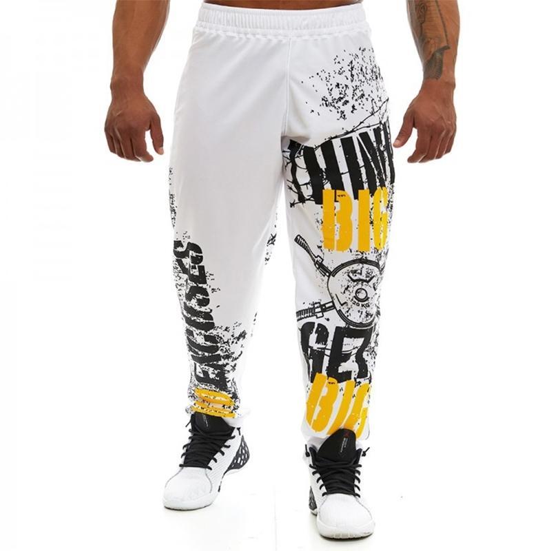 Nouveau pantalon de survêtement homme Gyms Gyms Fitness Pantalons Homme Sportswear Casual Fashion Joggers Joggers Pantalon Bases Y201123