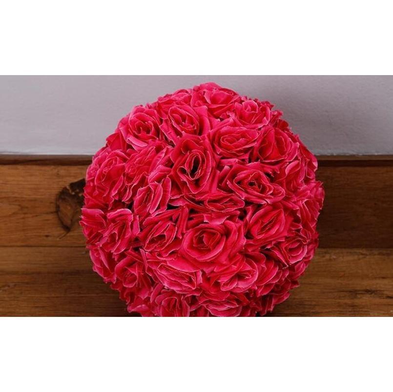 12 Inch Artificial Flowers Rose Ball Wedding Silk Pomander Kissing Ball Flower Ball Decorate Flower For Weddi jllhBg insyard