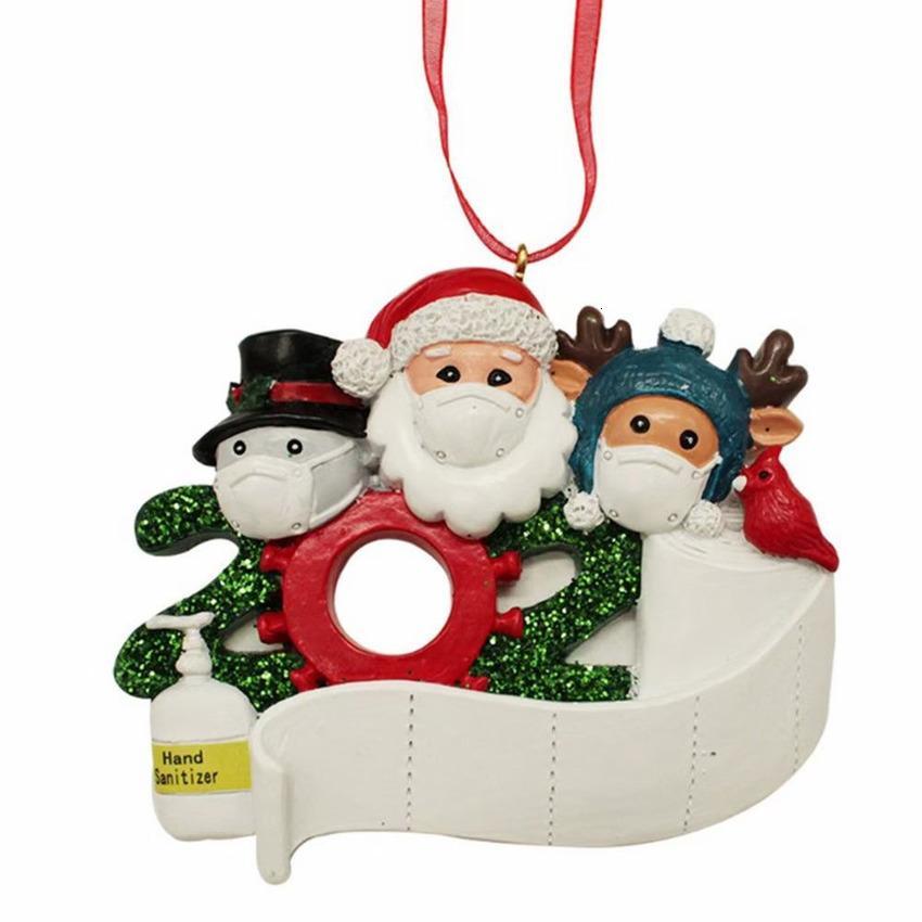 Aile Zibi Noel Dekorasyon kolye 2020 Santa Maske İzolatı Dul 8F3Q