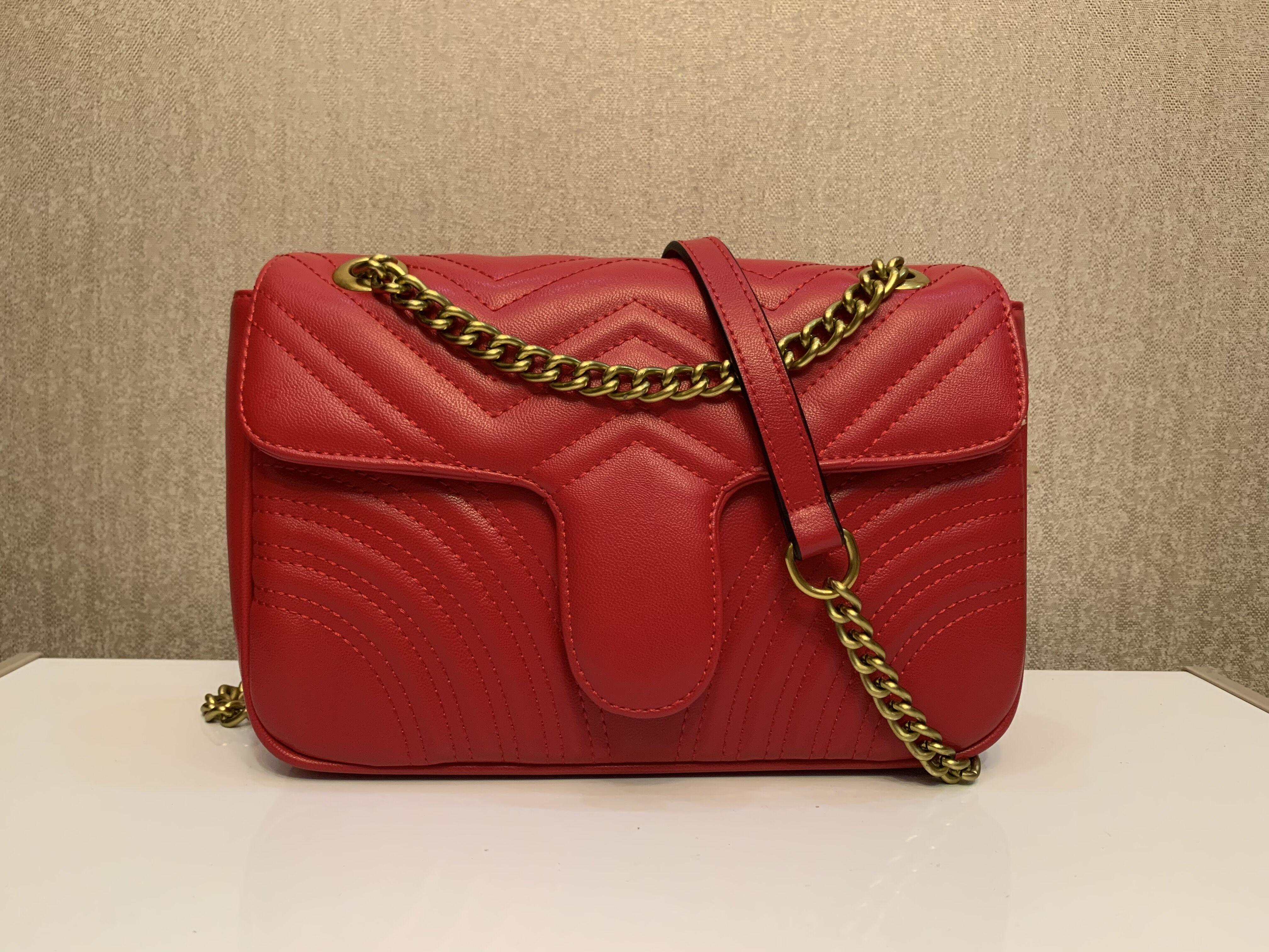 Nova venda saco de couro sacos de ombro clássico messenger mulheres estilo bolsas de ouro cadeia moda mulheres bolsas bolsas de compras coração quente xrpkg