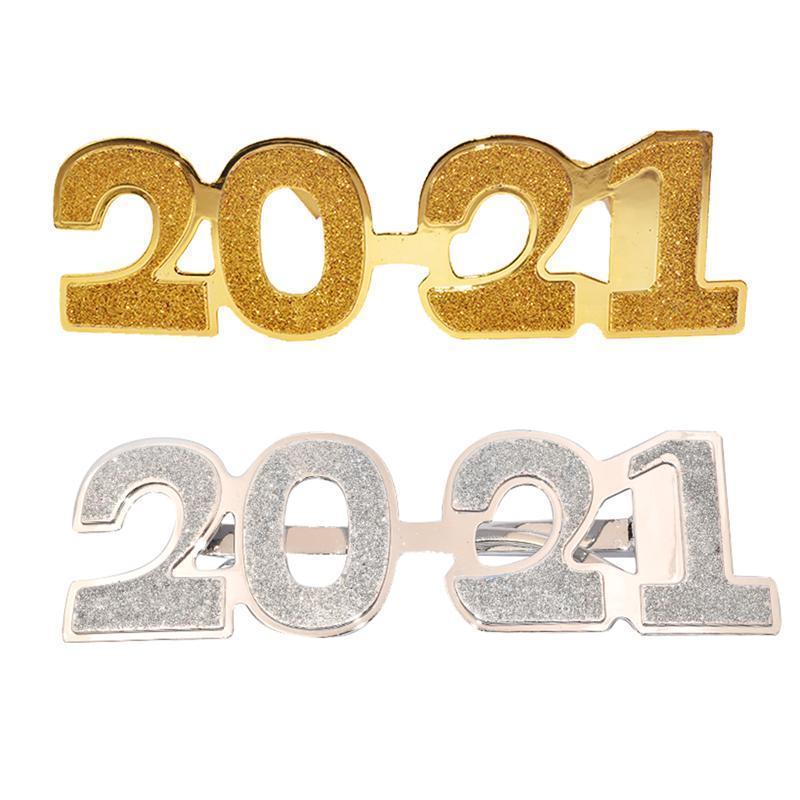 2/Photo Props 2021 New Years Eve Glasses Frames Creative Spectacles Party Supplies Party Costume