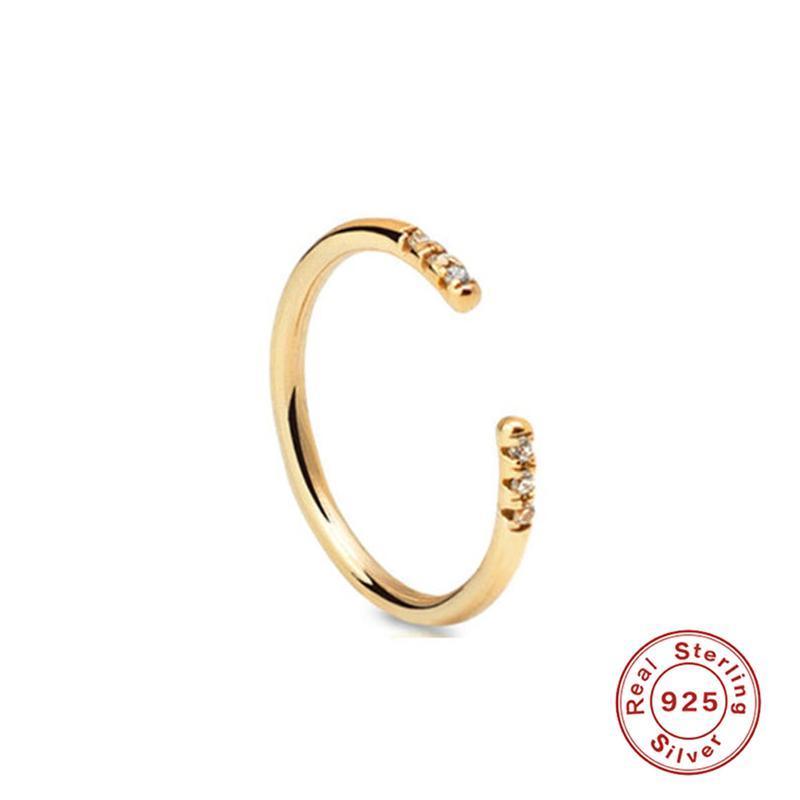 Bohemian vintage de prata esterlina 925 para as Mulheres Moda Declaração Jóias ajustável dedo A30 presente Ring Girls