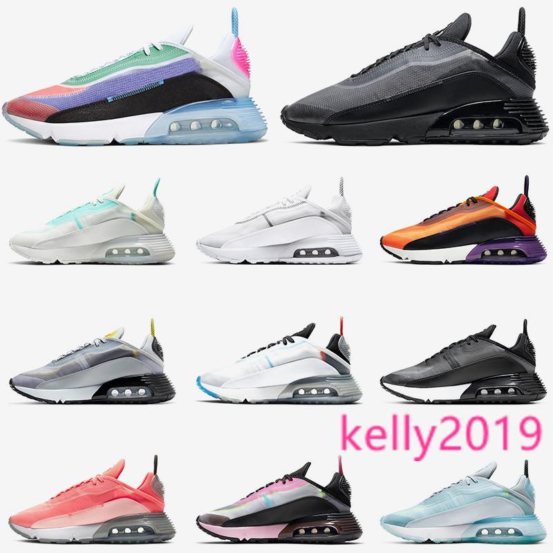 2090 Top Fashion das mulheres dos homens executando sapatos década de 2090 ser verdade tripla branco puro platina Ice formadores azul Fulgor da lava Esportes sneakers tamanho 36-45