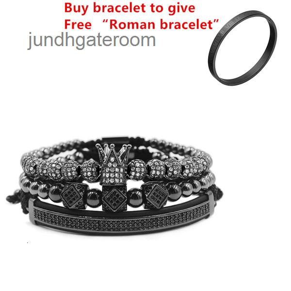 Casal de aço 3 pçs / conjunto + pulseira romana Pulseira numeral / coroa // para amantes / pulseiras titânio para mulheres homens de luxo jóias