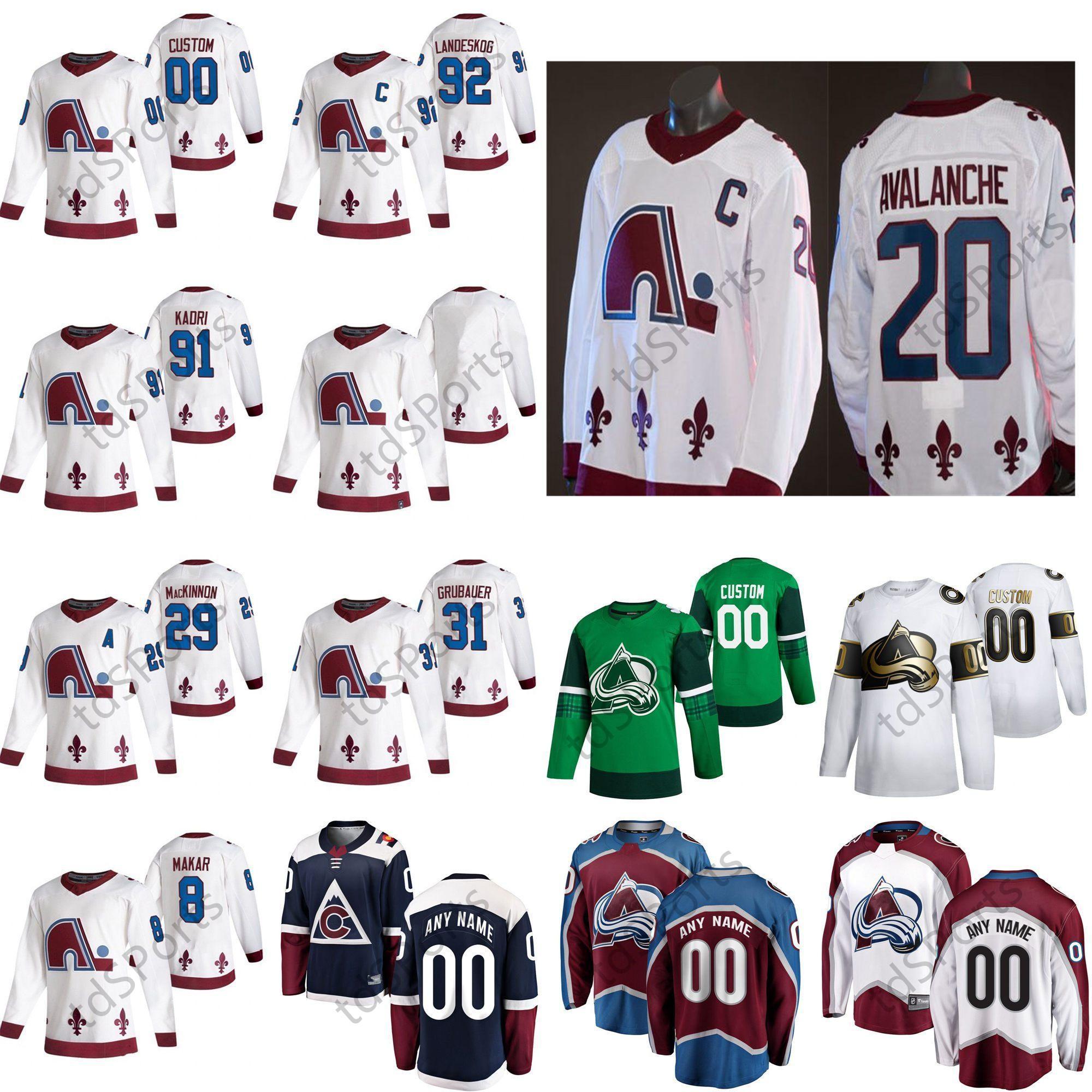 2021 Reverse Retro Colorado Avalanche Jersey Vladislav Kamenev Valeri Nichhuskkin Michael Hutchinson Matt Nieto Hóquei Jersey Costume Costume