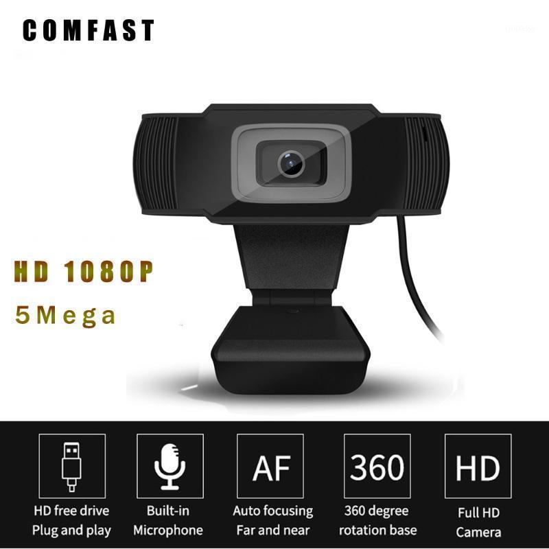 Webcams Webcam 1080P 5MP 60fps Dropcam COMFAST Auto Focus USB Camera Full HD Camara Web Para Pc Laptop Ordenadores1