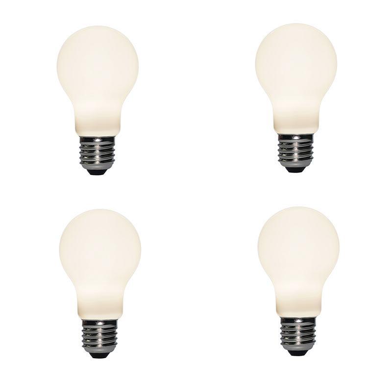 Liiiartman 6W LED Light Bulb A60، E27 قاعدة مات أوبال دافئ أبيض 2500K CRI95 420LM، 50W مكافئ اديسون لمبة (4-pack)