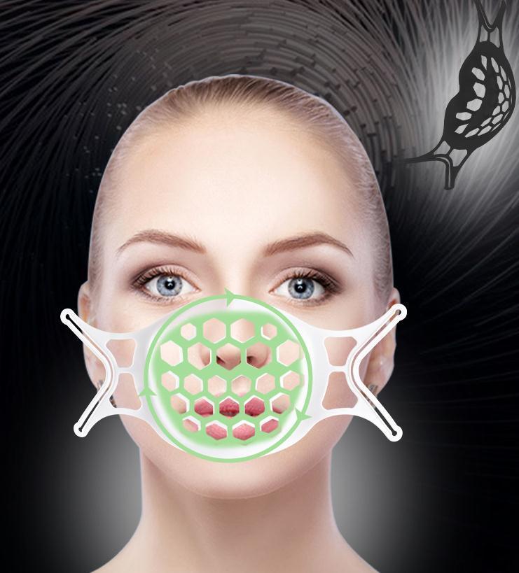 뜨거운 3D 마스크 브래킷 립스틱 보호 TPE 스탠드 얼굴 마스크 홀더 숨기는 호흡 멋진 마스크 후크