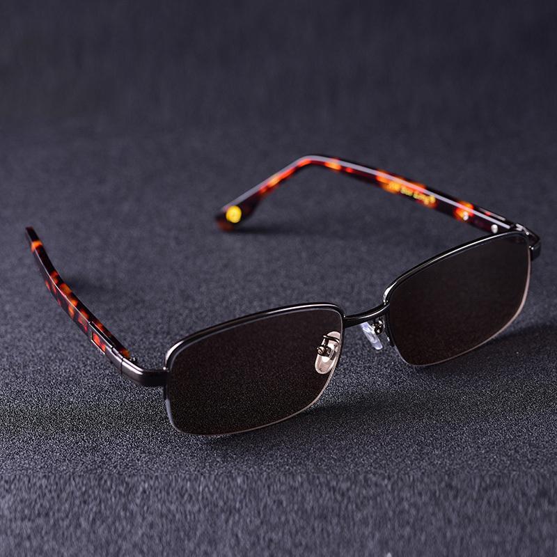 Vintage-Sonnenbrillen der Vazrobe-Glasmänner für Männer dunkelbraune Linse Anti-Scratch-Designerschutz UV400 P912