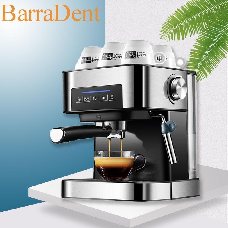 Cappuccino Maker Barista Bundle مجموعة قهوة الفول طاحونة كأس الفولاذ المقاوم للصدأ شبه التلقائي صانع القهوة البسيطة 1