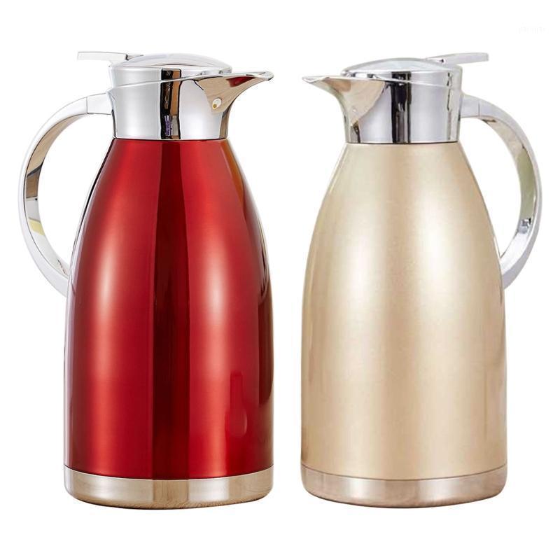 زجاجات المياه 2l الفولاذ المقاوم للصدأ فراغ قارورة القهوة حاوية الشرب وعاء عزل مزدوج ترموز زجاجة غلاية 425C1