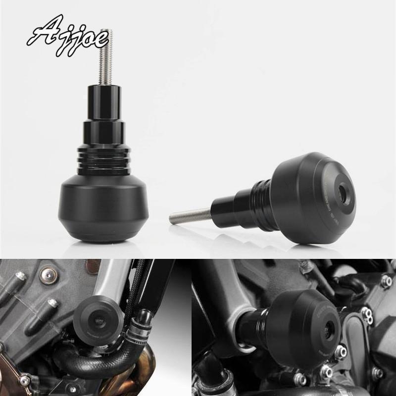 Motosiklet CNC Alüminyum Çerçeve Kaymak Anti Kaza Caps Motor Koruma Motor Koruma Mt 09 MT09 2014-2020 için Koruma Guard1