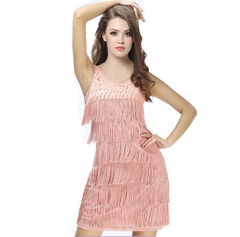 Nouvelle femme Latin Fringe Robe Dance Porter Femmes Robe latine Dance Salsa Cha Cha Cha Cha Cha Cha Chaille Robes de dancewear Ballroom1