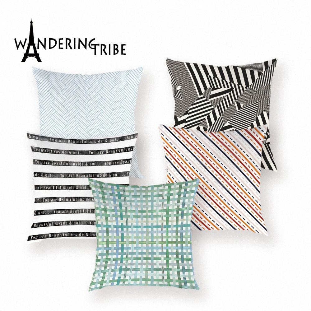 Geometrische Kissenbezug Marokko Pillowcase Streifen-Muster Dekorative Kissen Schlafsofa Auto Bunte Druck Covers Kissen Hüllen JMET #
