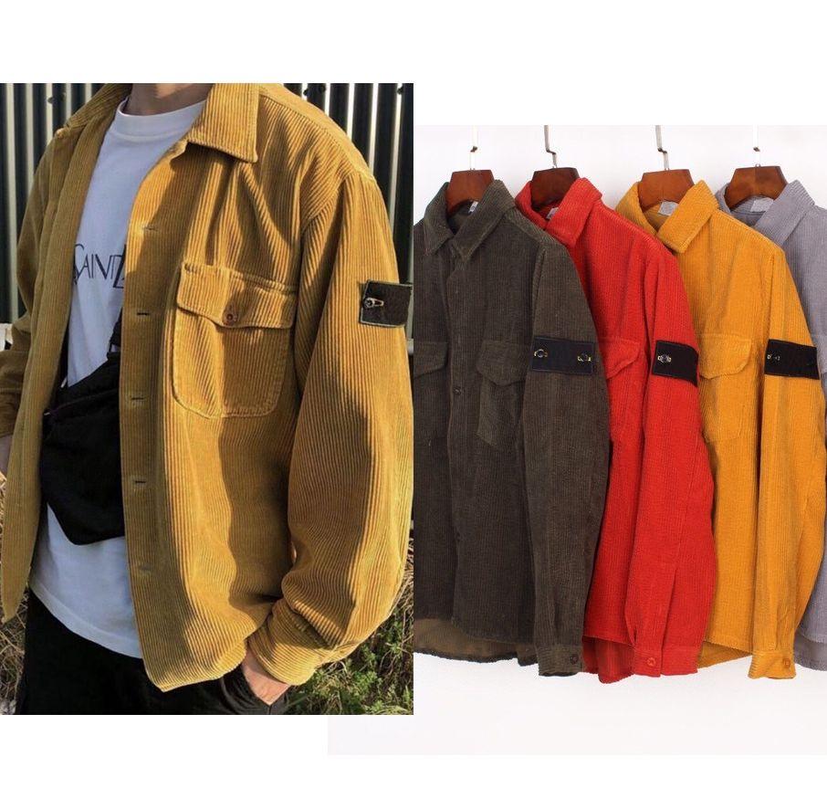 톱 qaulity 남자 코듀로이 클래식 배지 셔츠 후드 롱 슬리브 티셔츠 까마귀 망 패션 셔츠 디자이너 스웨터 후드