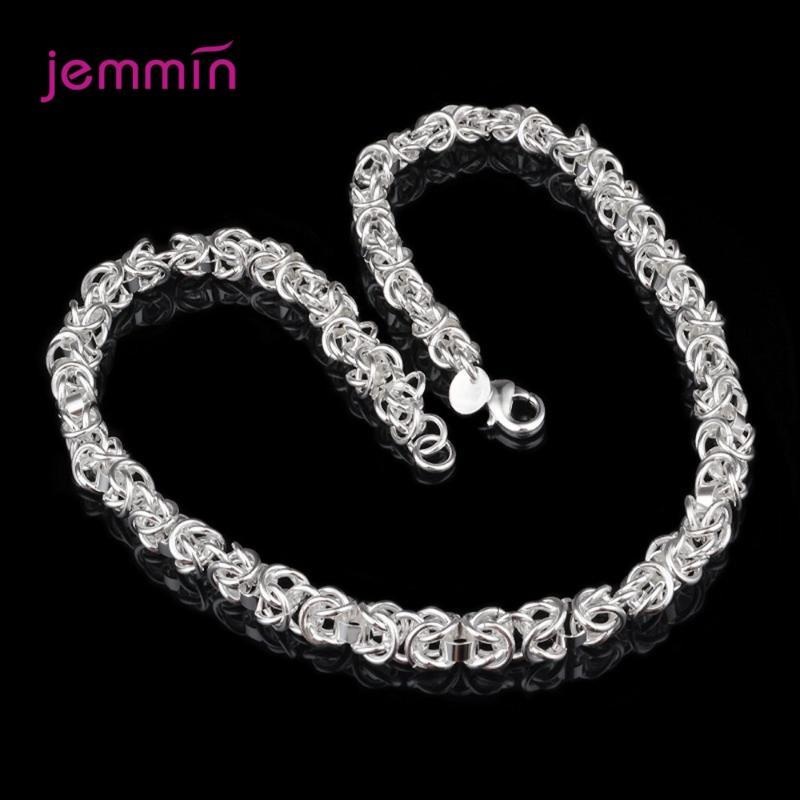 Chains Boutique Women 925 Sterling Silver Link Chain Necklaces Jewelry Friendship Gift 0.7CM Thickness Length 18 Inches Weight 30g