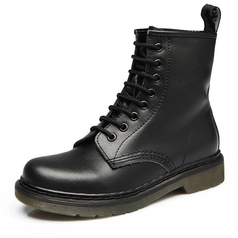 2021 botas mujeres zapatos de cuero genuino para botas de invierno zapatos mujer casual otoño cuero genuino botas mujer tobillo hembra