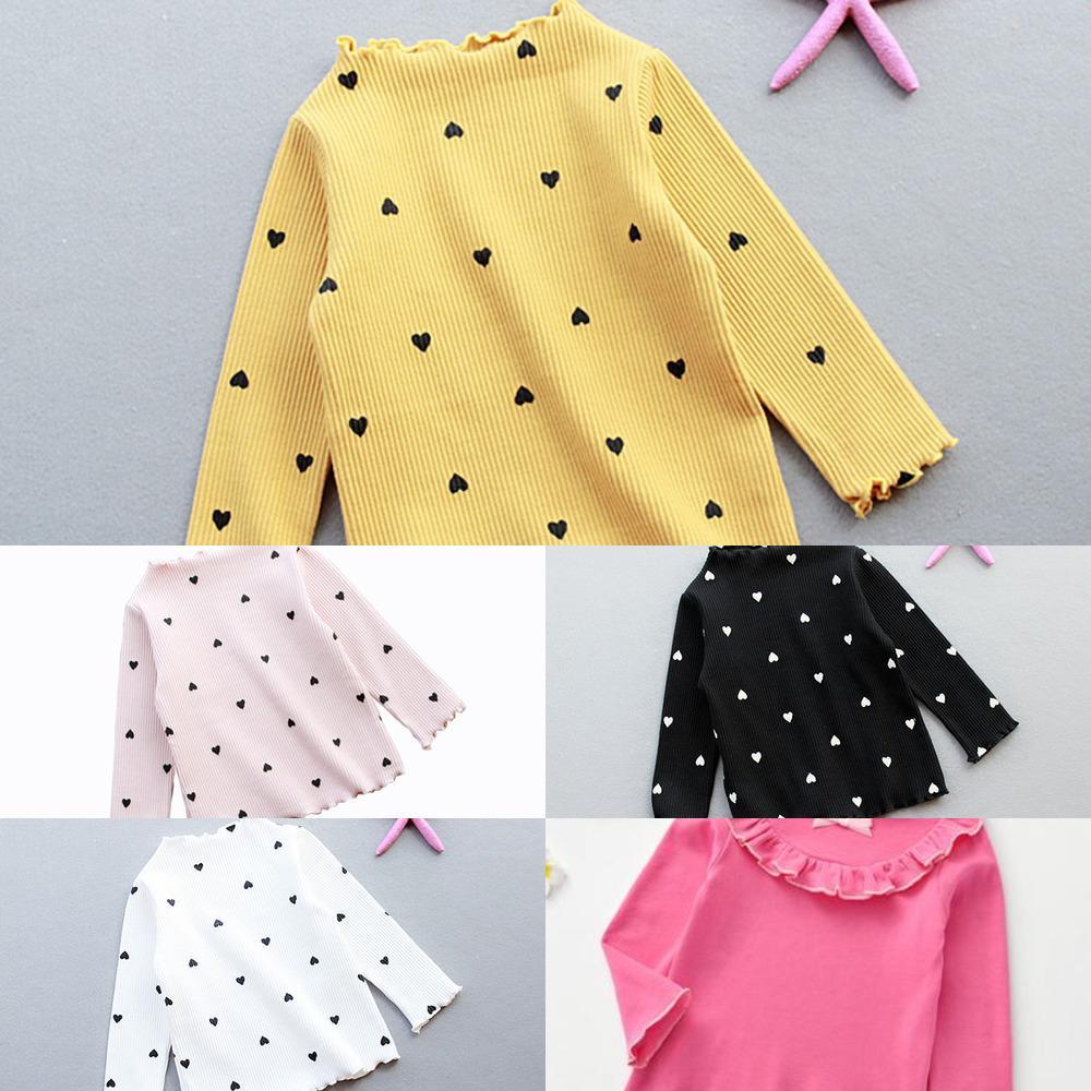 HSDFLOVE осень детские девочки малыш милый свитер 1-5 шаблон лет печать принцесса с длинным рукавом топ малыша хлопок повседневная костюм блузка