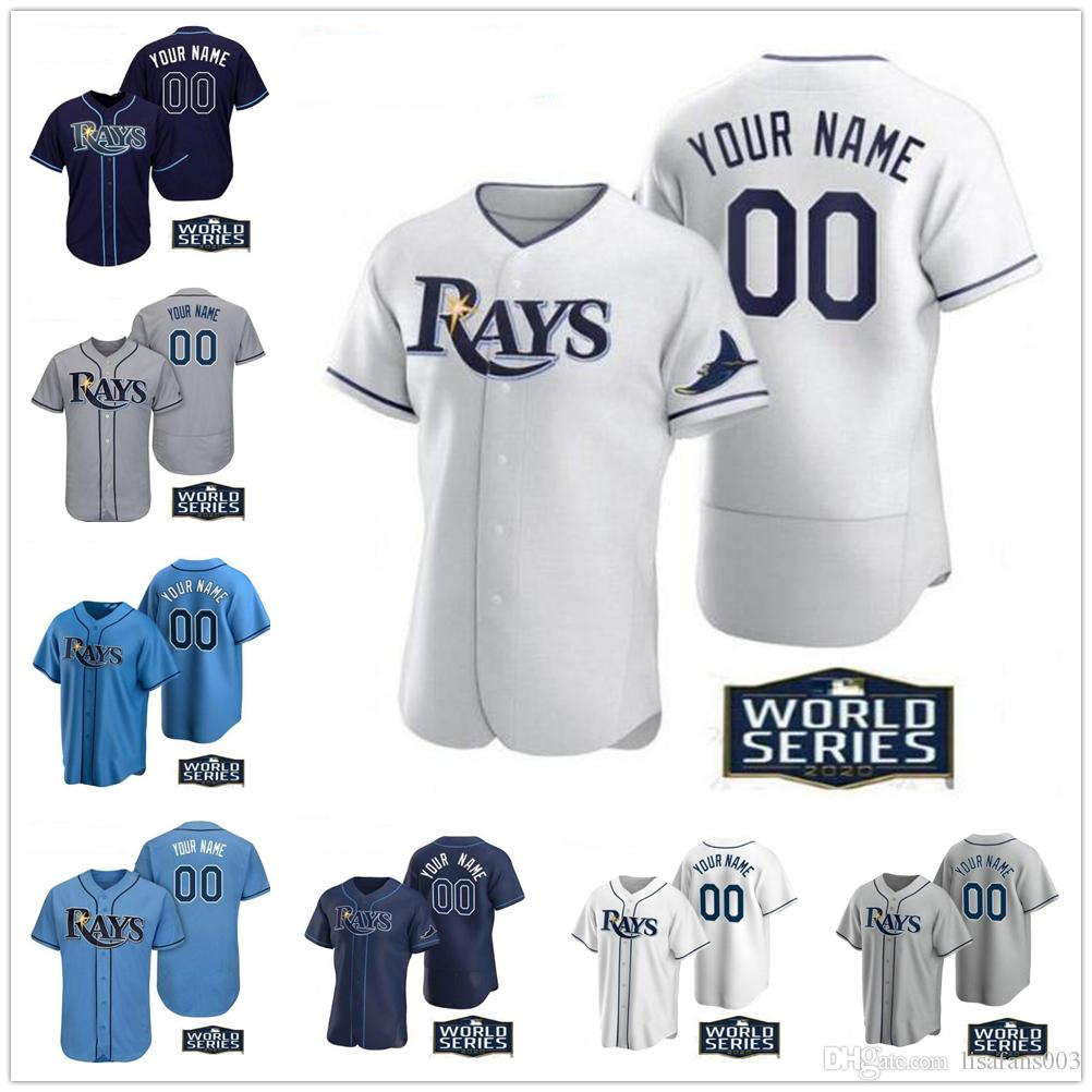 O beisebol da faculdade usa tampa personalizado Randy Arozarena Bayray Kevin Kiermaier Blake Snell Austin Meadows Willy ADames Jerseys Qualquer nome Número