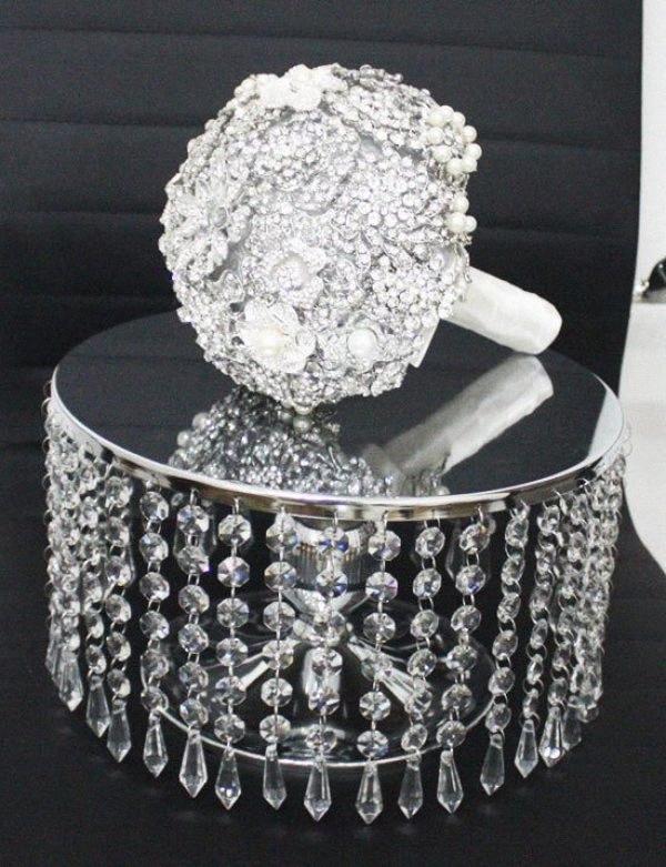 20pcs 15CM ghirlanda incaglia perline cristallo libero in materiale acrilico con prisma per Cake Topper Decorazione, all'aperto albero di Natale decorazione GG9b #