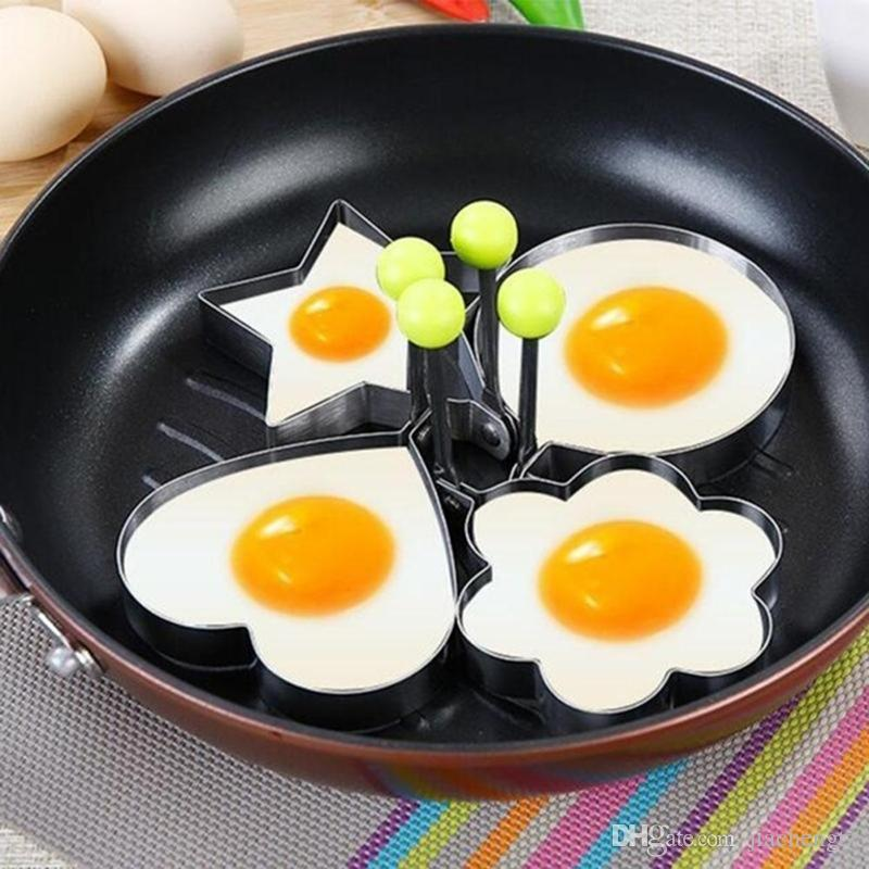 Cooking Fried Kitchen Frying Shaper Mould Accessories Stainless Steel Heart Mold BBQ Egg Egg Rings Tools Kitchen Pancake Qsopi