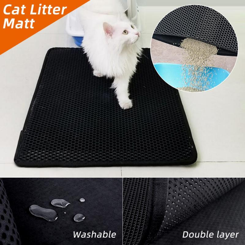 Cat Beds & Furniture Waterproof Pet Litter Mat Double Layer Bed Pads Trapping Pets Box Product For Cats House Clean