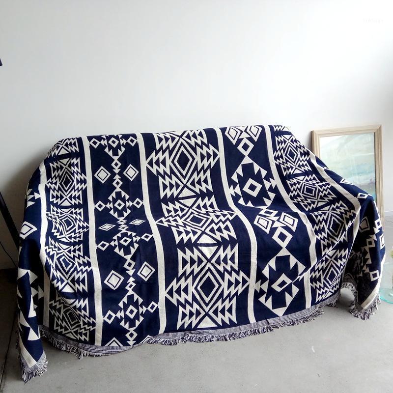 Jeton de coton pour canapé Couverture Jacquard Blanket Thread Bohemian Style De style Chaise de piano Couvre-tapis Chausub LitsParreau