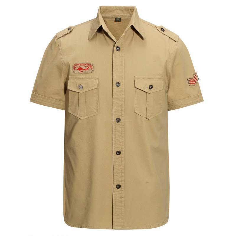 Camicia casual casual da uomo in cotone camicia da estate uomo manica corta modello ricamo sliimming grande taglia M-7XL