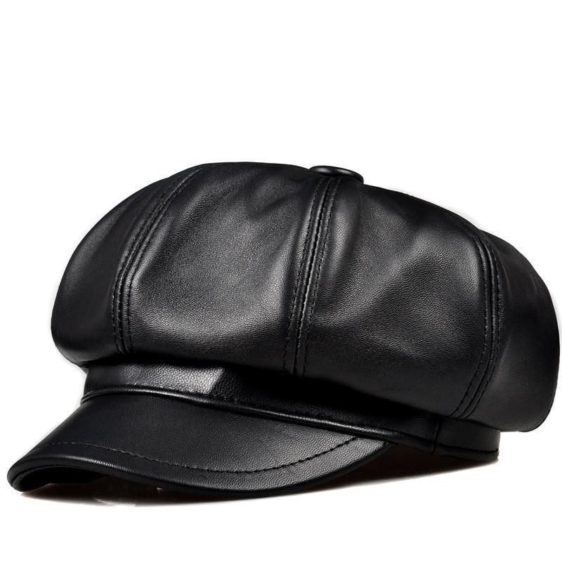 hakiki deri şapkalar 2020 yeni moda öğrencilere gerçek deri kapaklar Boş şapkalar kadınlar ve erkek unisex kapakları