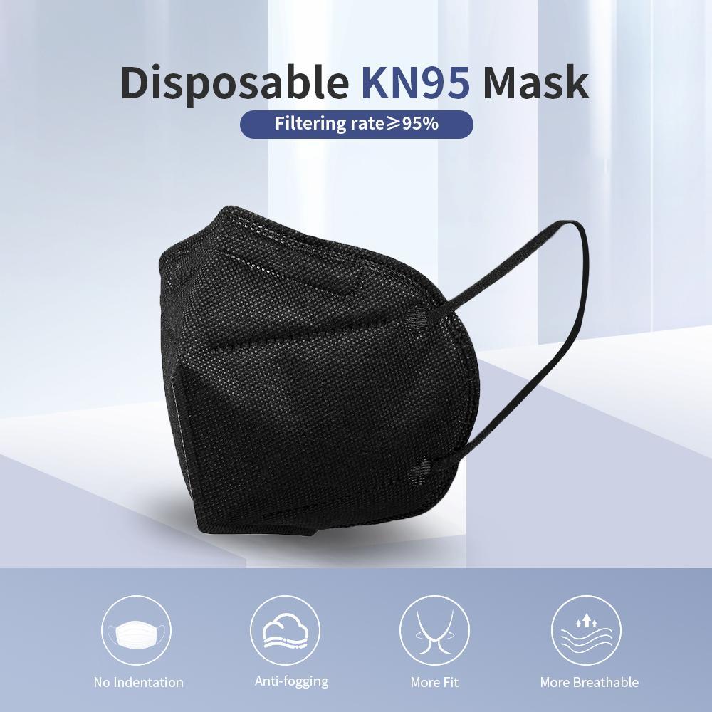 Conformidade Europeenne Certificado Máscara facial Ativado Luxo de Carbono Reutilizável Reutilizável Válvula Respirador Protetor Preto Protetor