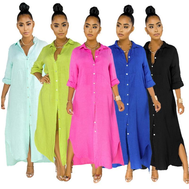 Kadın Elbise Uzun Etek Kadın Giyim Uzun Kollu Elbise Robe Çekme Pijama Uzun Maxi Elbiseler Onesies Moda Ve Casual Tam Kol Etek