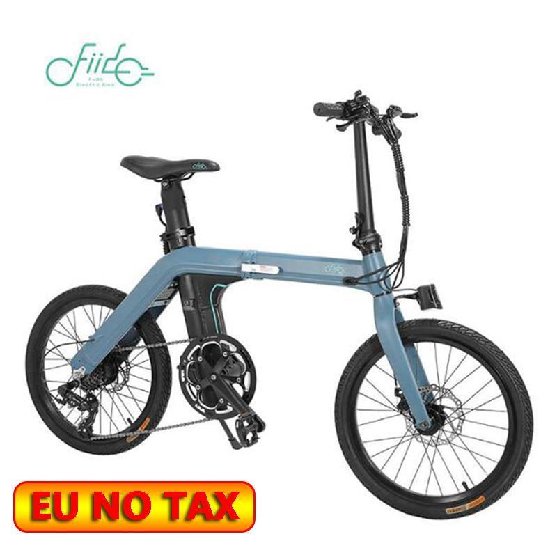 Originale FIIDO D11 Bike Elettrico 100KM Ciclismo Urban Pieghevole Ebike Versione spostamento 20inch Pneumatici 250W Motore max 25km / h
