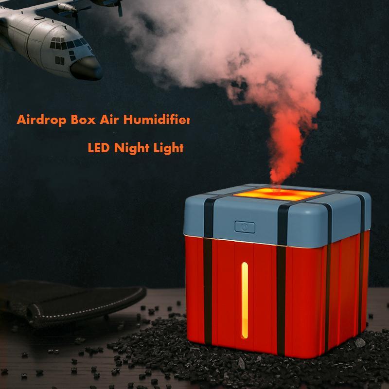 PUBG Airdrop Box Luftbefeuchter Aroma Diffuser Mini-USB Ultraschall-Nebel-Hersteller Home Office Desktop-Airdrop Tasche Befeuchter Geschenk 1012