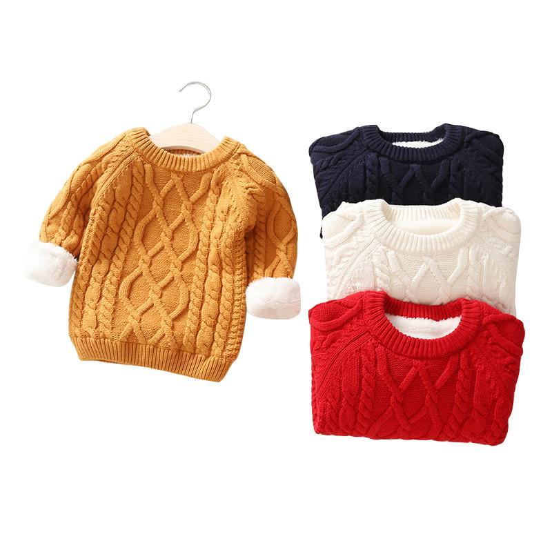 Дети мальчики свитера зимы толстой теплой детский Jumper возраст 1 - 12 лет ребенок мальчика девочек свитер весной длинный рукав трикотажных топы Y200919