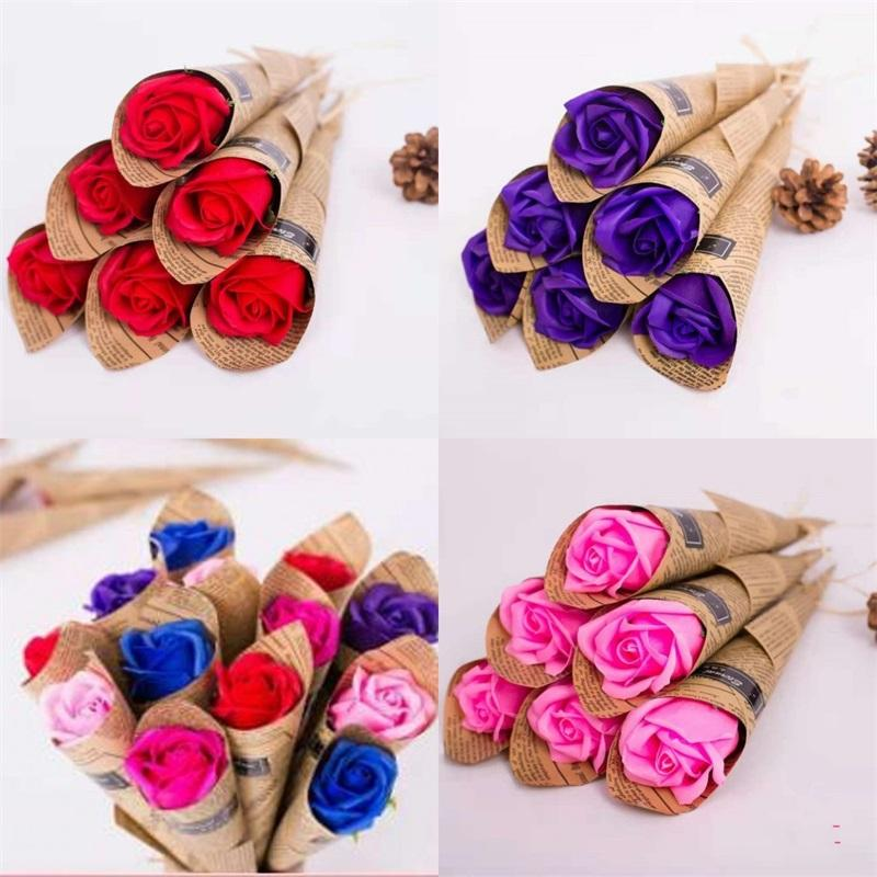 Valentinstag Geschenk Parfumed Seifenmütter Tag Tätigkeit SOAPWORT WASH Hände Rose duftende Seifen empfindliche Multi Color 0 95DY O2