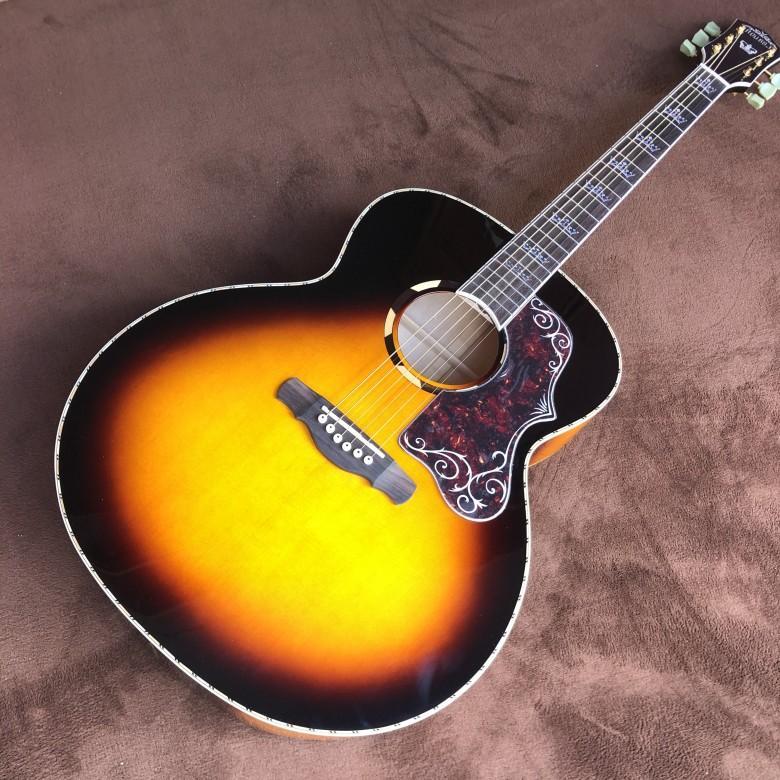 Acoustic GuitarFree spedizione profilo abete massello di mogano dritto chitarra acustica da 43 pollici