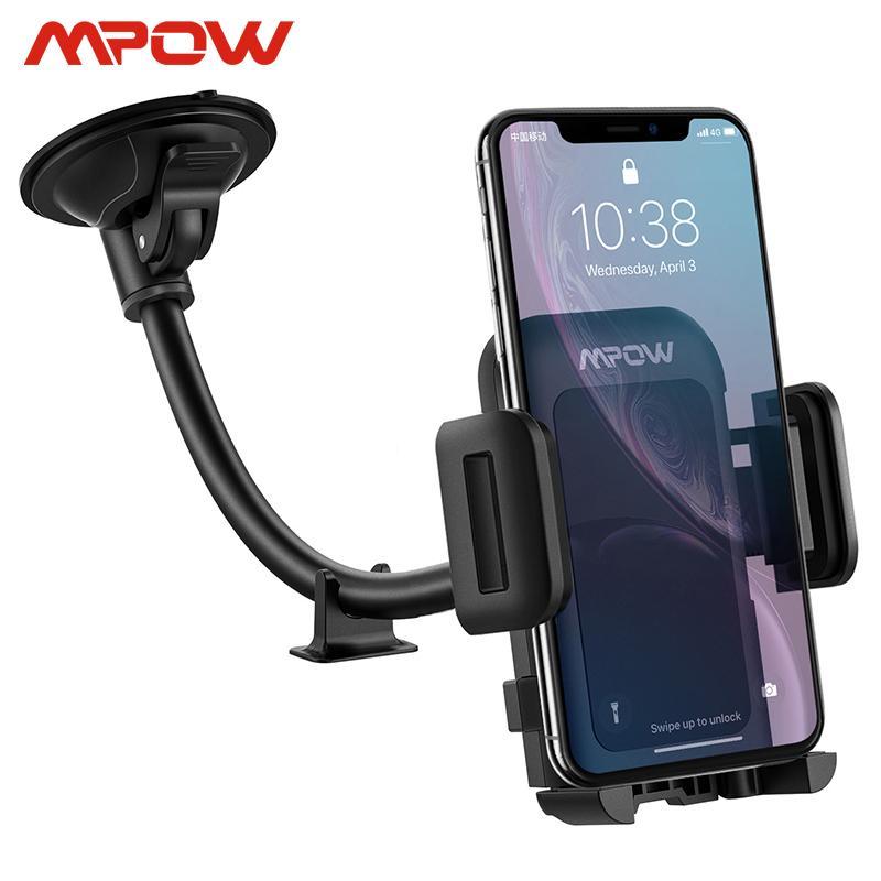 MPOW CA033 Universal para 4-6 polegadas celulares carro montar titular Telefone Painel Bendable Braço suporte ajustável 360 graus de rotação C1016