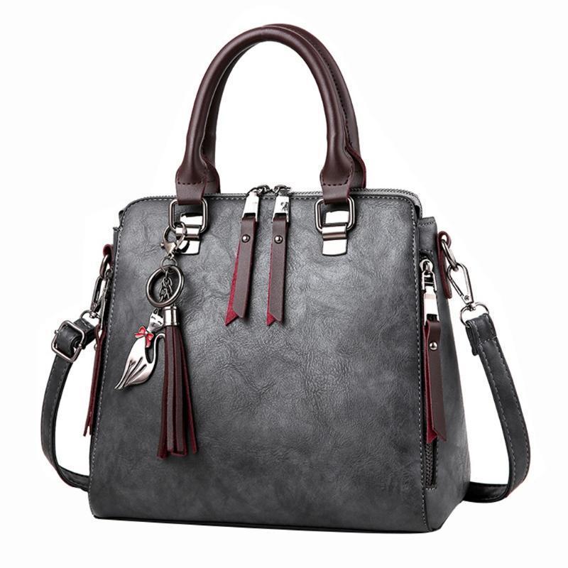 الصلبة اللون القط هامش الكتف البريدي حمل حقيبة يد حقائب الإناث عارضة سعة كبيرة رسول حقيبة شل حقيبة الهاتف المحمول # S11